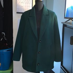 Oversized Wool blend Forest Green Trench Coat
